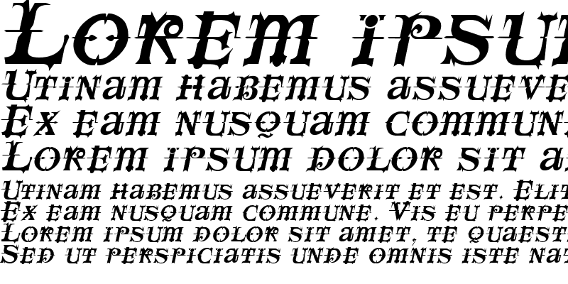 Sample of SpaceIvey Italic