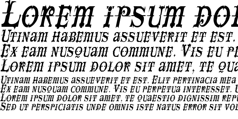 Sample of SpaceIveyCondensed Italic