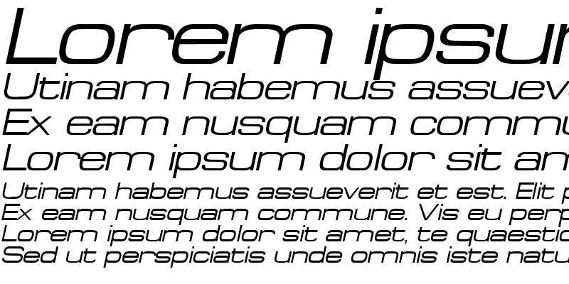 Sample of SpaceOut Italic