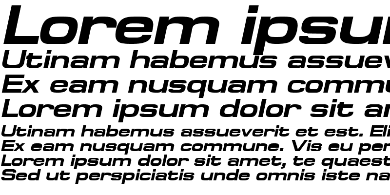Sample of SpaceOutBold Italic