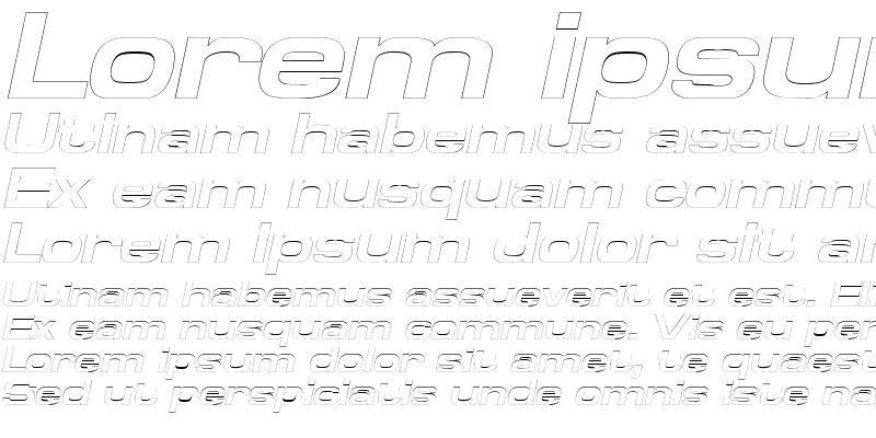 Sample of SpaceOutBoldOutline Italic