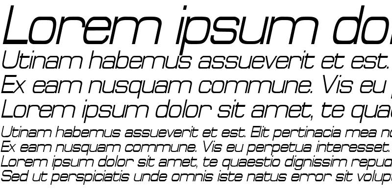 Sample of SpaceOutCondensed Italic