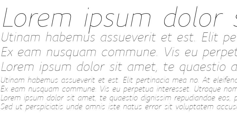 Sample of Speak-LightItalic