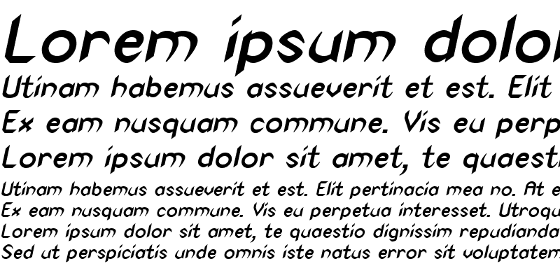 Sample of Spike-Condensed Bold Italic