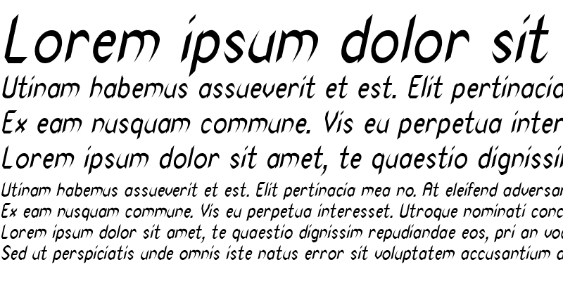 Sample of Spike-Condensed Italic
