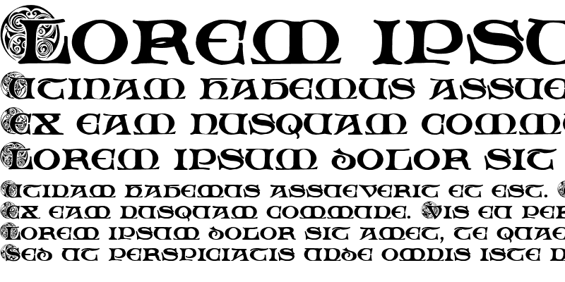 Sample of Spiral Initials