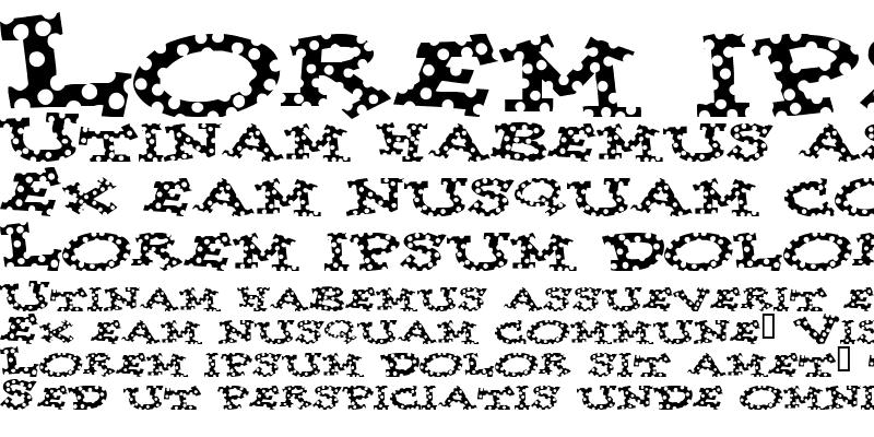 Sample of Spotty Font