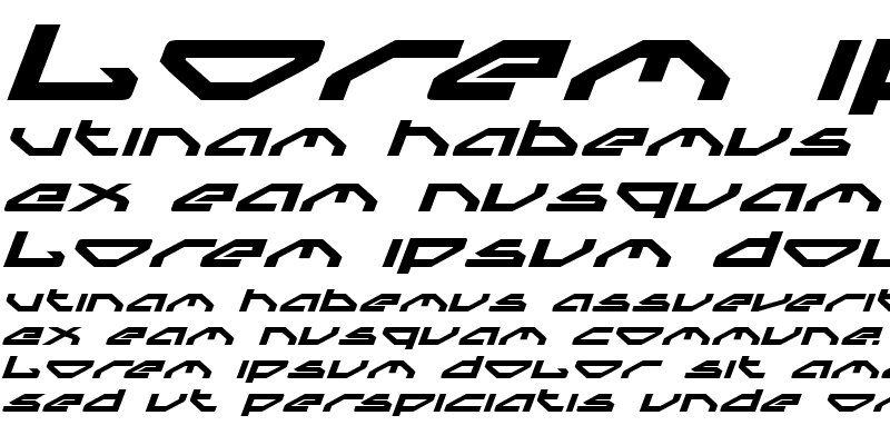 Sample of Spylord Bold Expanded Italic
