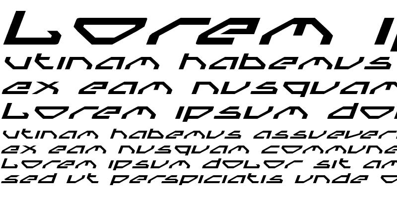 Sample of Spylord Expanded Italic Expanded Italic