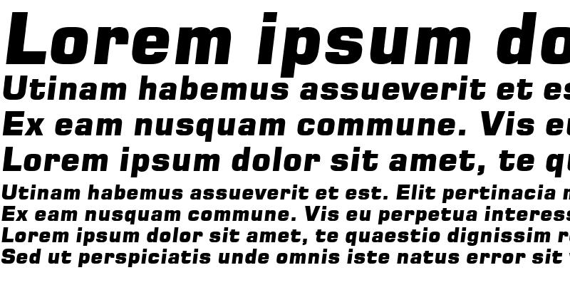 Sample of Square 721 Blk Italic
