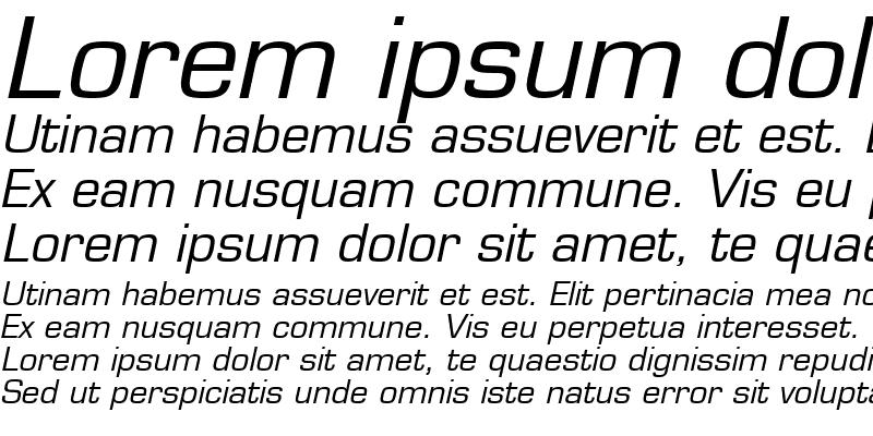 Sample of Square721 BT Italic