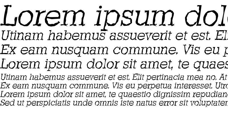 Sample of StaffordRandom LightItalic