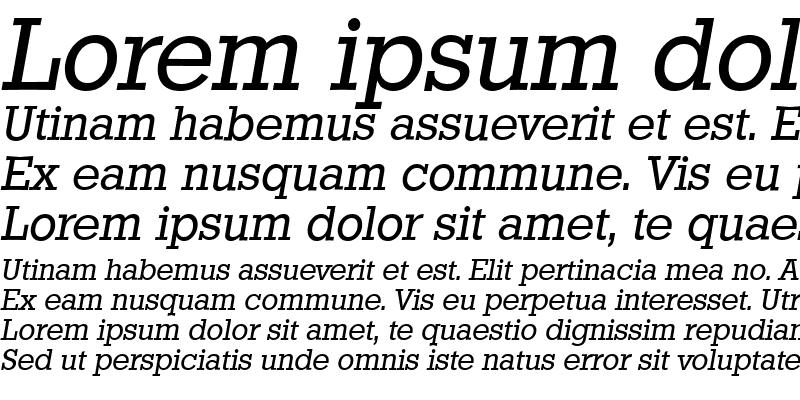 Sample of StaffordSerial Italic