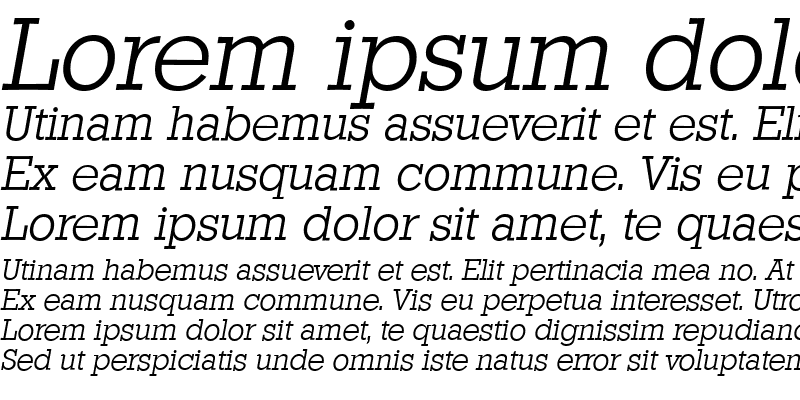 Sample of StaffordSerial LightItalic