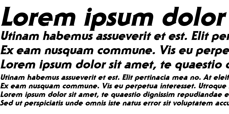 Sample of Staid Gothic Heavy Italic