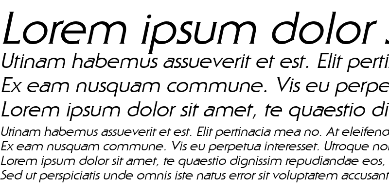Sample of Staid Gothic Italic