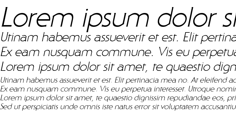 Sample of Staid Gothic Light Italic