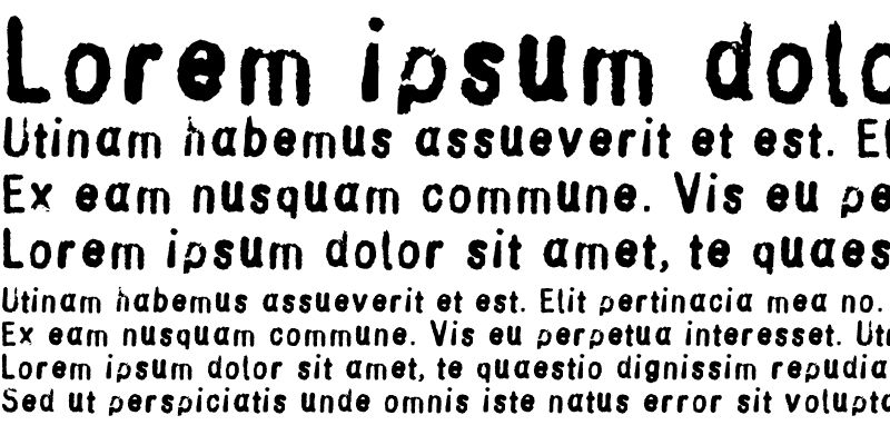 Sample of StampGothic
