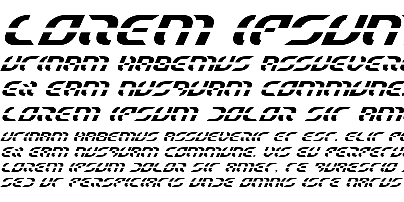 Sample of Starfighter Italic Italic