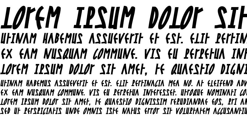 Sample of Steel Bold Italic