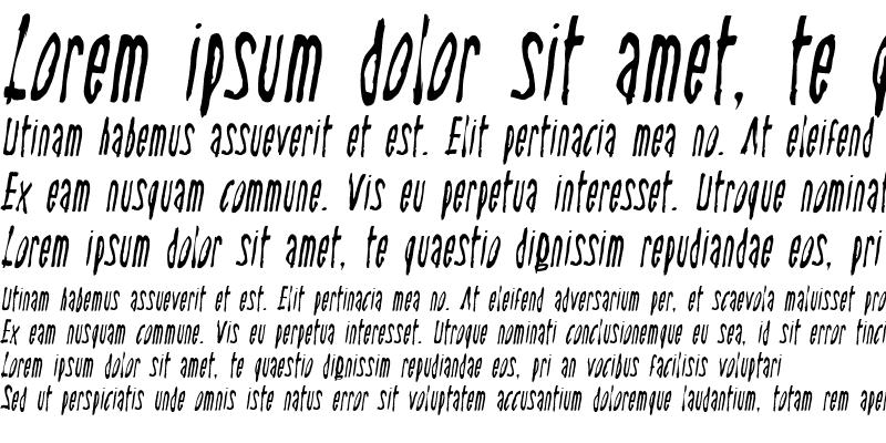 Sample of Steel Italic