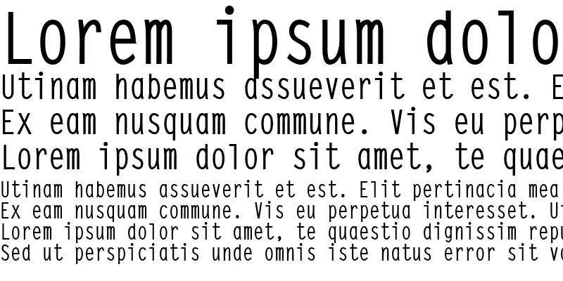 Sample of SteepTypewriterMedium Regular