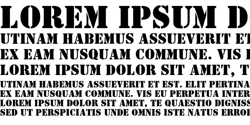 Sample of Stencil BT