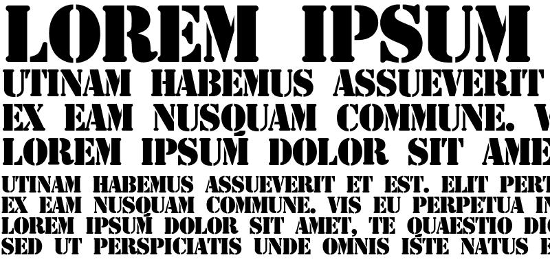Sample of Stencil Display