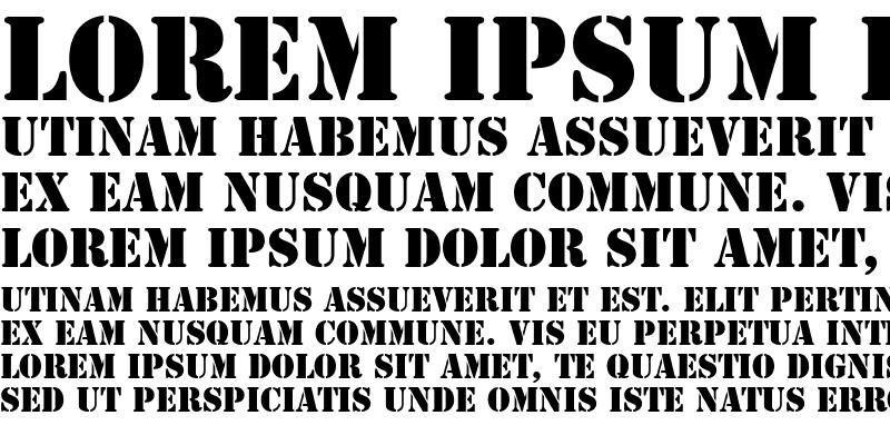 Sample of Stencil LT