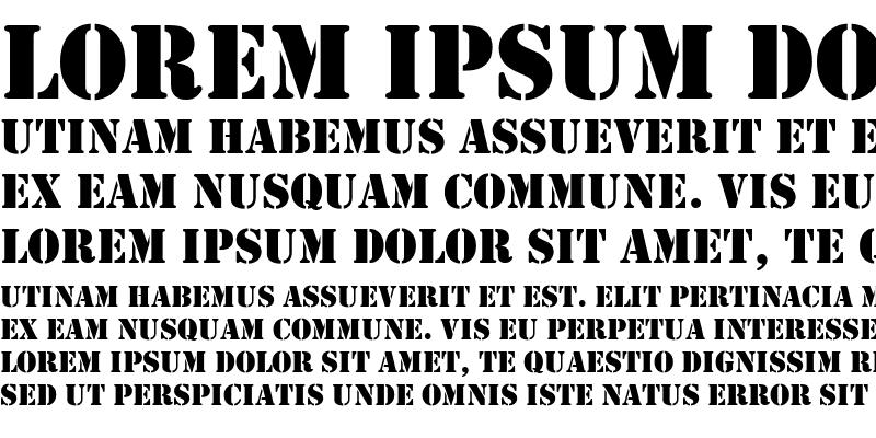 Sample of Stencil Regular