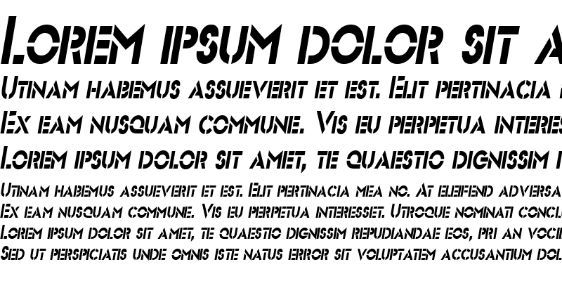 Sample of Stencil Sans-Condensed