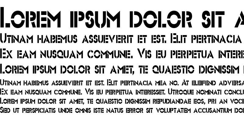 Sample of Stencil Sans-Condensed Normal