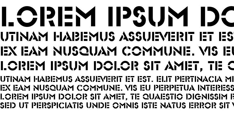 Sample of Stencil Sans