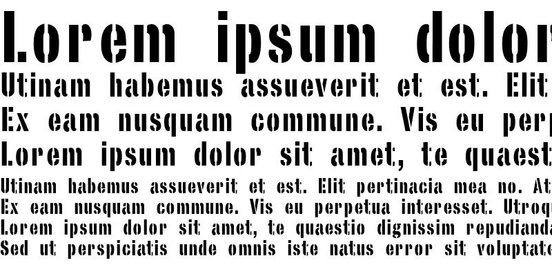 Sample of StencilSans