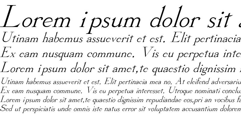 Sample of Stickee-Italic