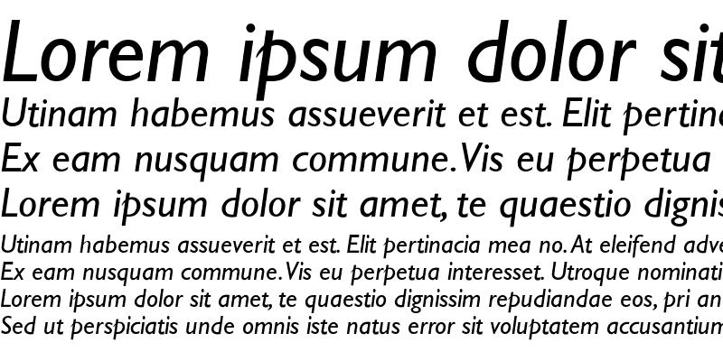 Sample of Stimmell-Italic