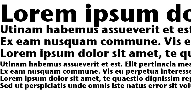 Sample of Stone Sans ITC TT