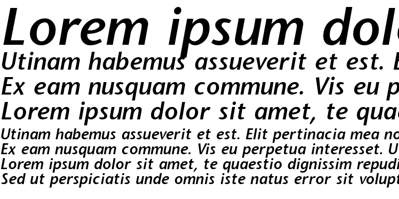 Sample of Stone Sans Semi Bold Italic