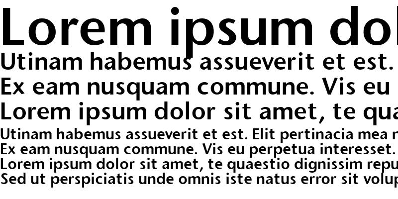 Sample of Stone Sans Semi Bold Regular