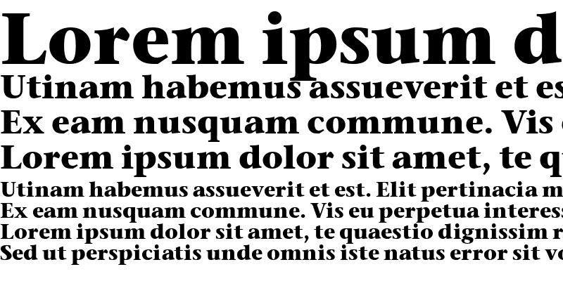 Sample of Stone Serif OS ITC TT
