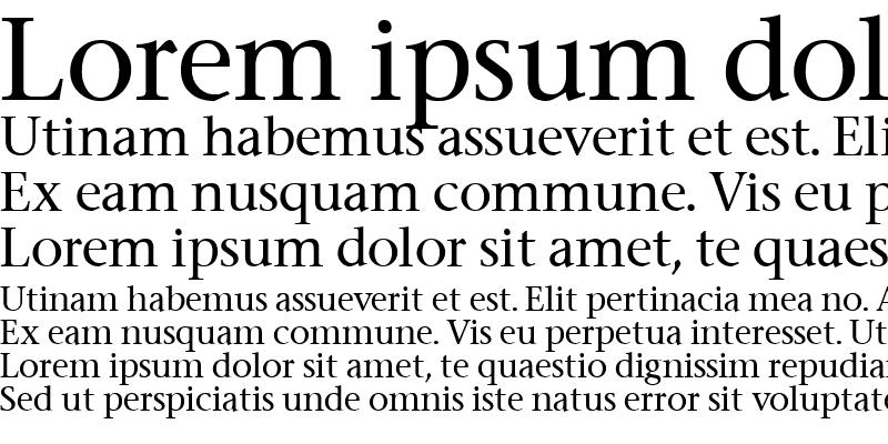 Sample of Stone Serif