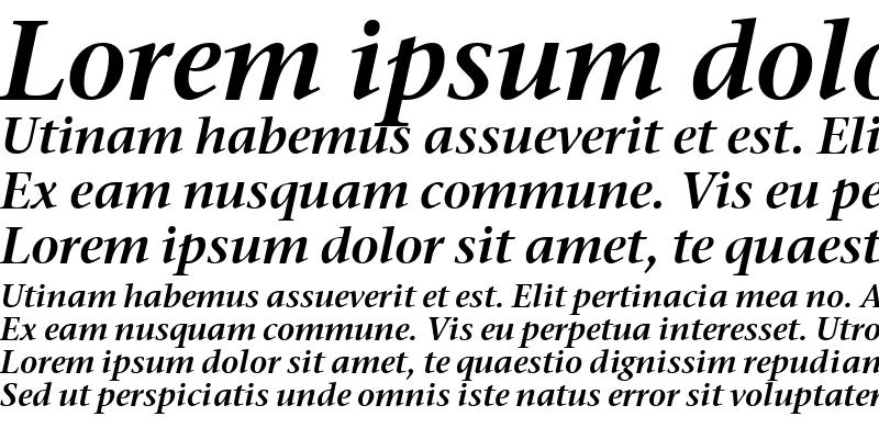 Sample of Stone Serif Sem ITC TT