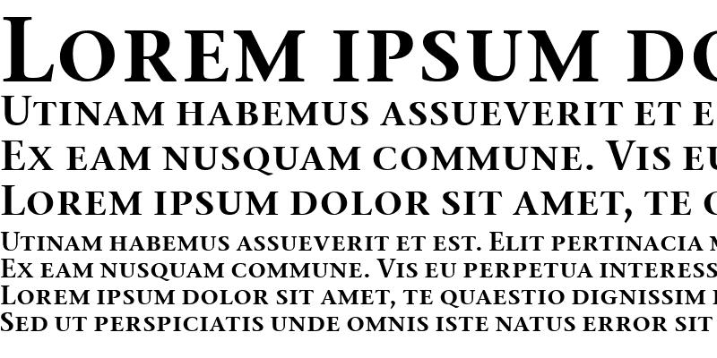 Sample of Stone Serif Sem SC ITC TT Semi