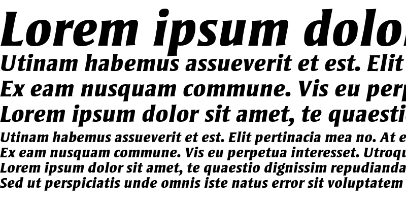 Sample of Strayhorn MT Extra Bold Italic