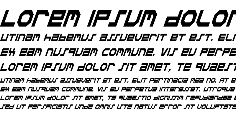 Sample of Stuntman Condensed Italic