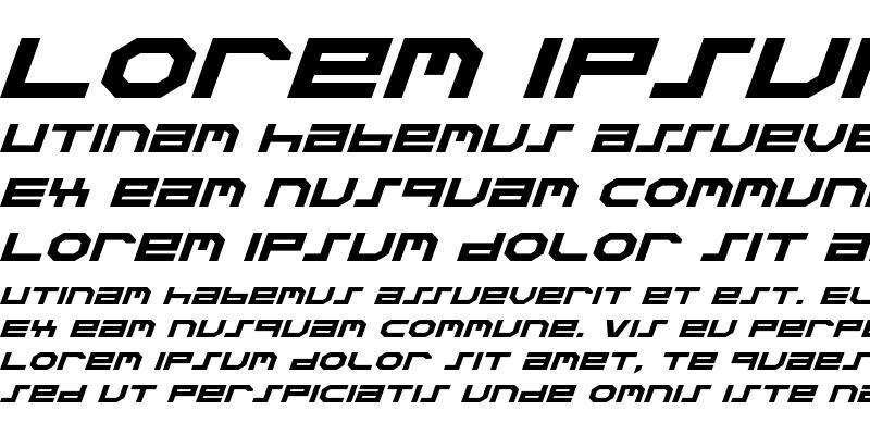 Sample of Stuntman Expanded Italic Expanded Italic