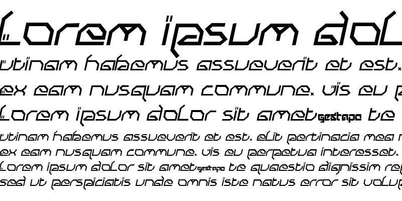 Sample of Submit Italic