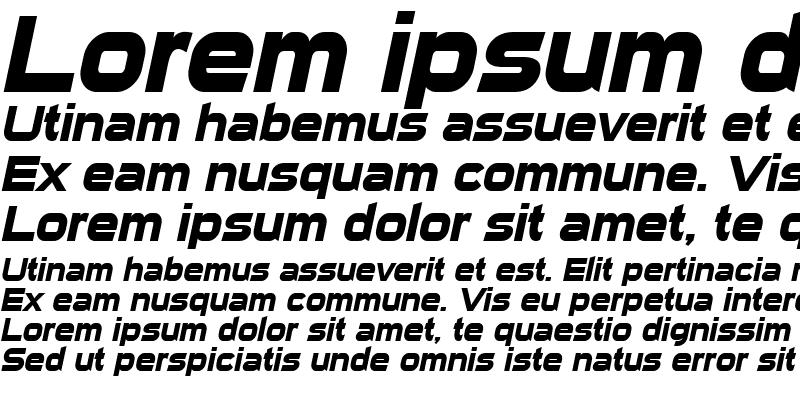 Sample of Sui Generis Bold Italic