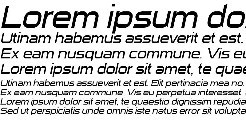 Sample of Sui Generis Light Italic