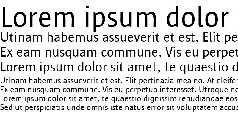 Sample of Sun Sans-